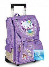 zaino trolley hello kitty manico allungabile viola nuova collezione 2013